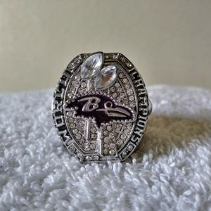 Baltimore Ravens Joe Flacco Superbowl Ring